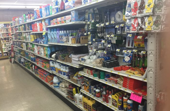 Cleaning supplies and household items