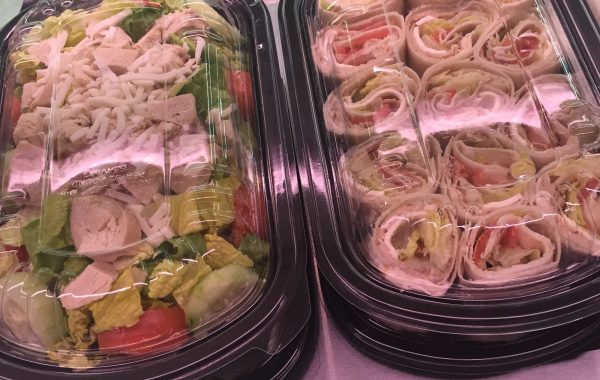 Salads to-go/turkey rolls Hummus/potatoe salad and seafood salad