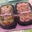 Salads to-go/turkey rolls Hummus/potatoe salad and seafood salad