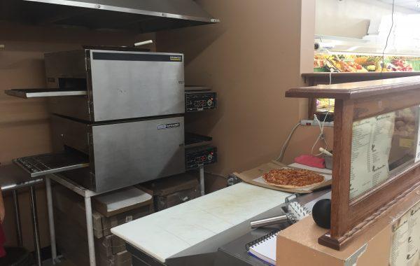 Fresh handmade pizza.